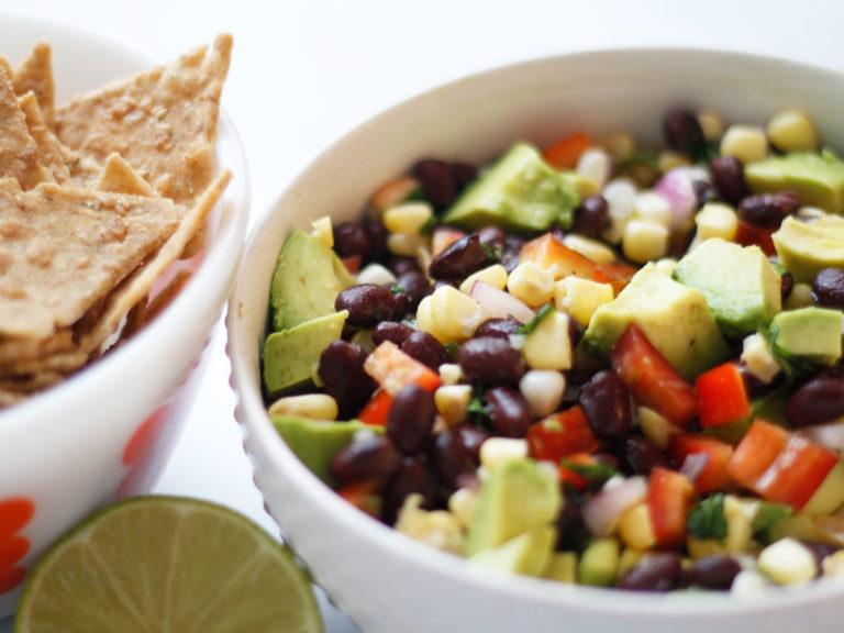 Black Bean, Corn, Avocado Salad