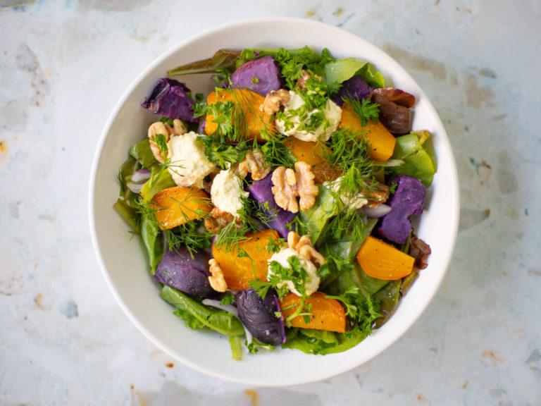 Roasted Beet and Potato Salad Recipe